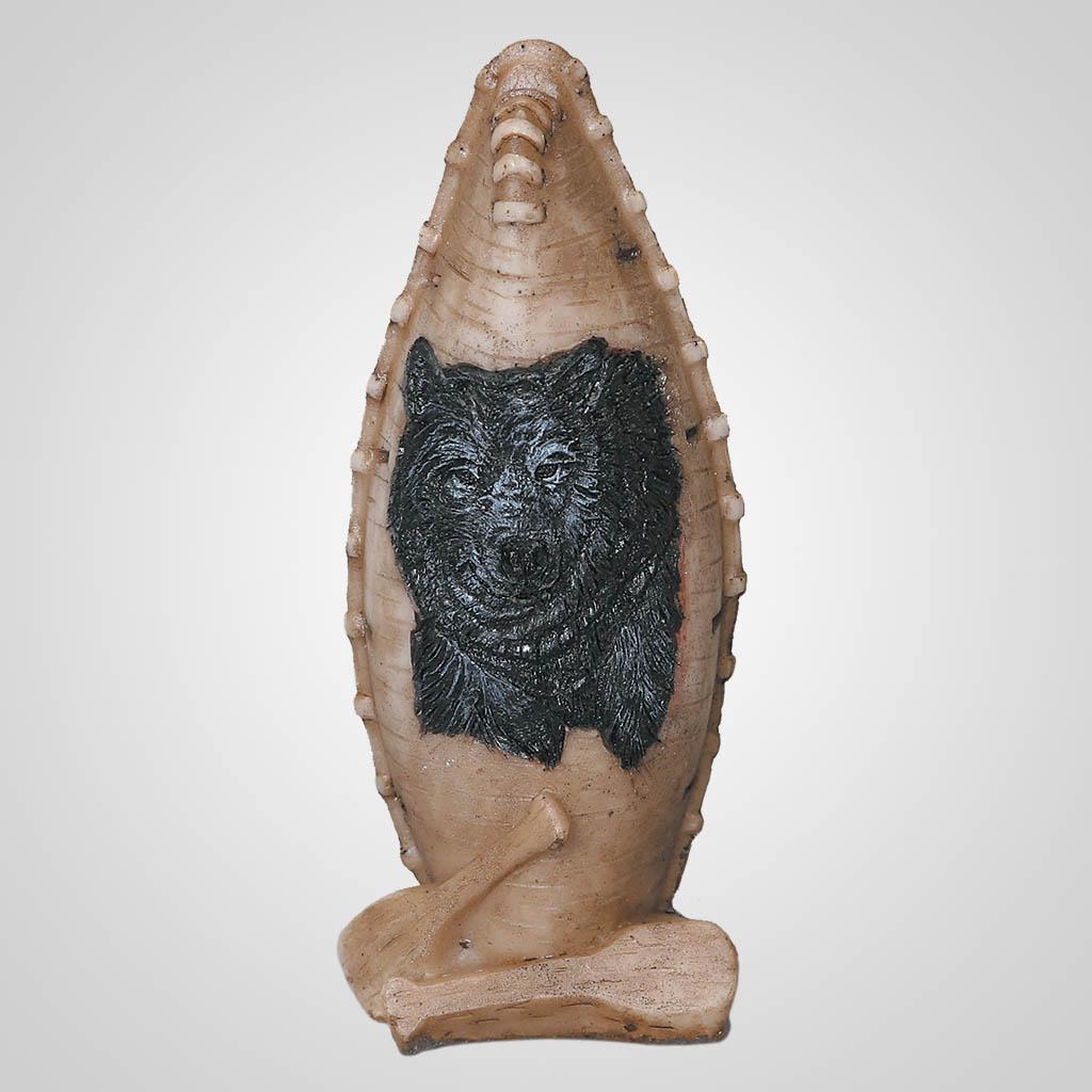 62596 - Canoe Figurine With Bear