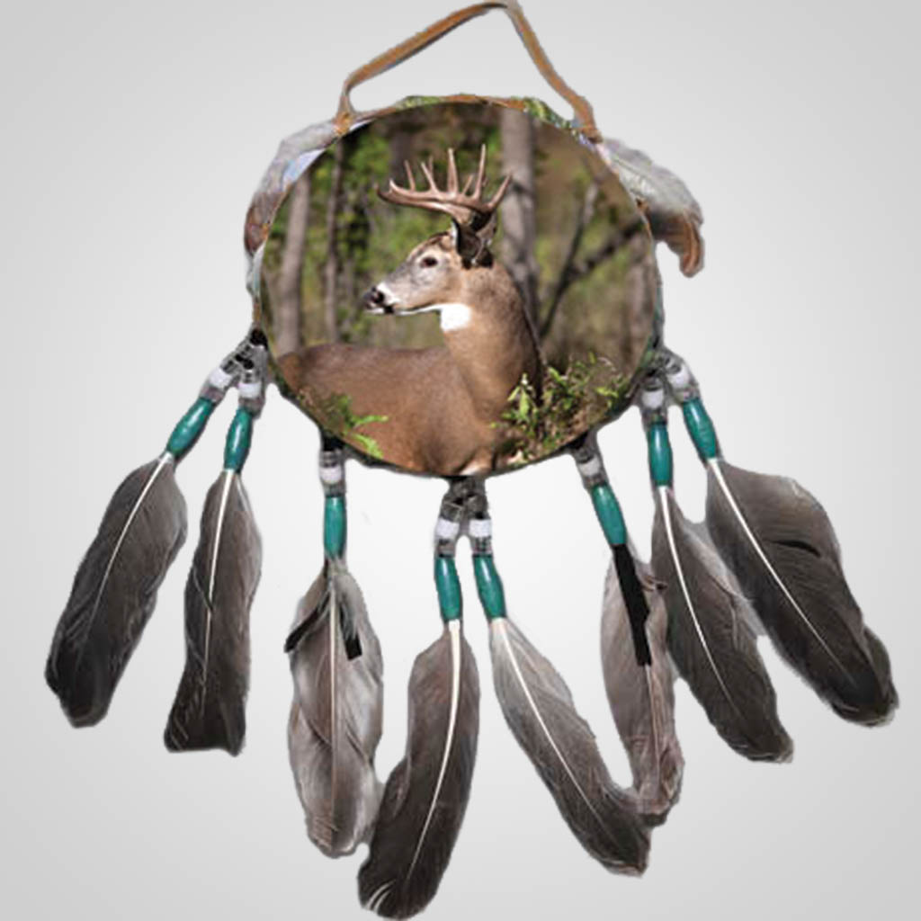 63254 - Drum Wall Hanging, Buck Deer