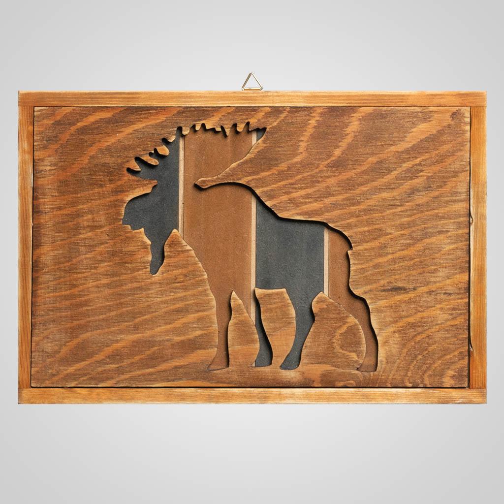 63311 - Moose Wood Cutaway Plaque