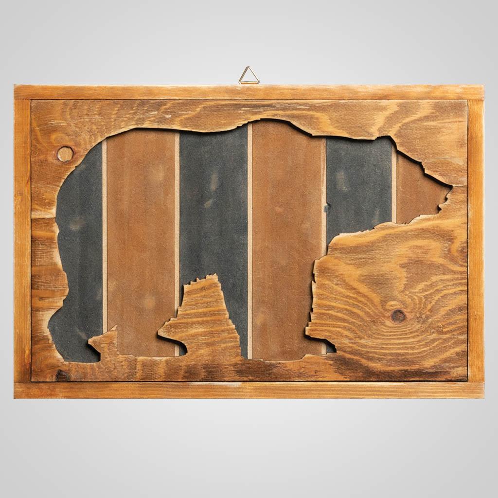 63313 - Bear Wood Cutaway Plaque