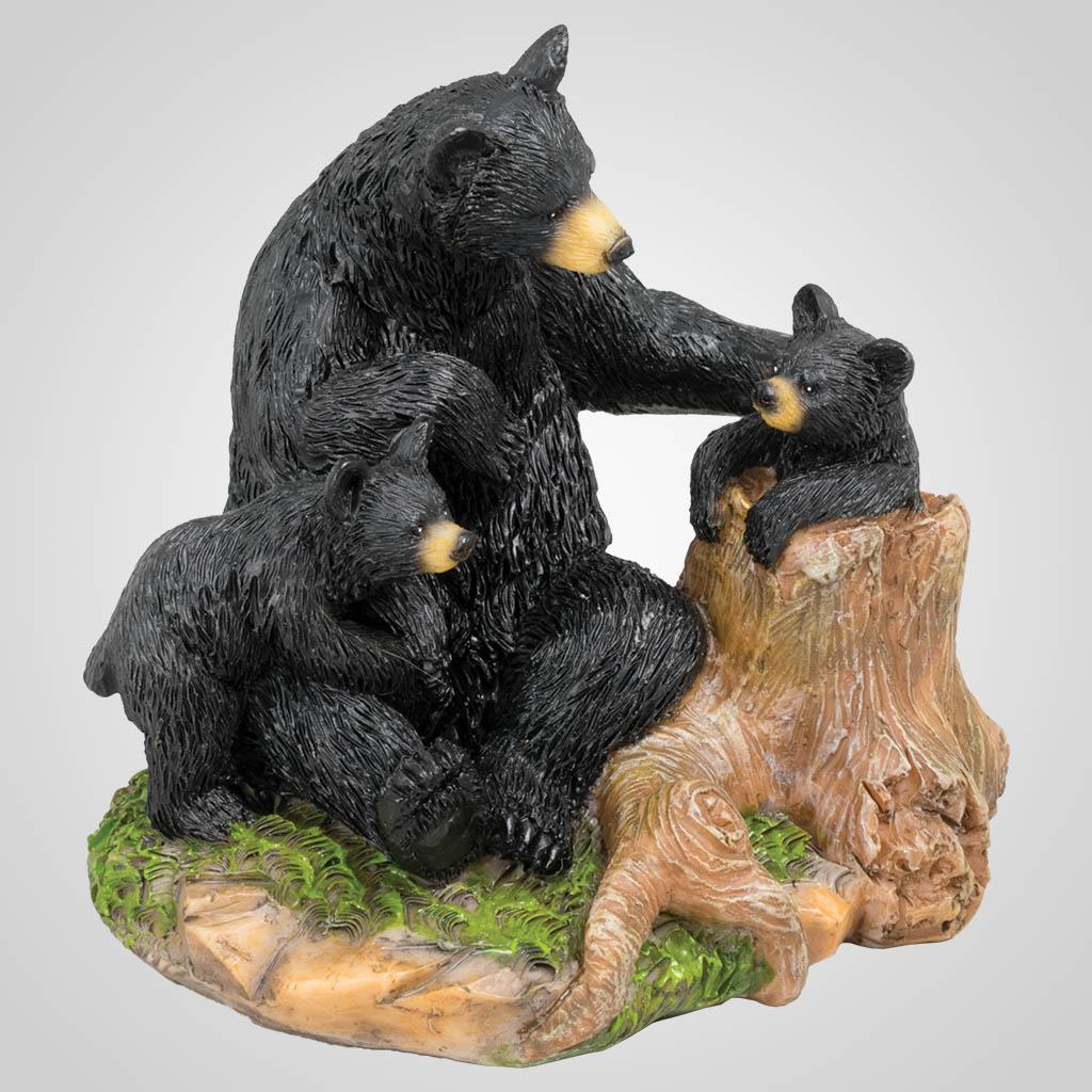 63355 - Bear Family On Tree Stump