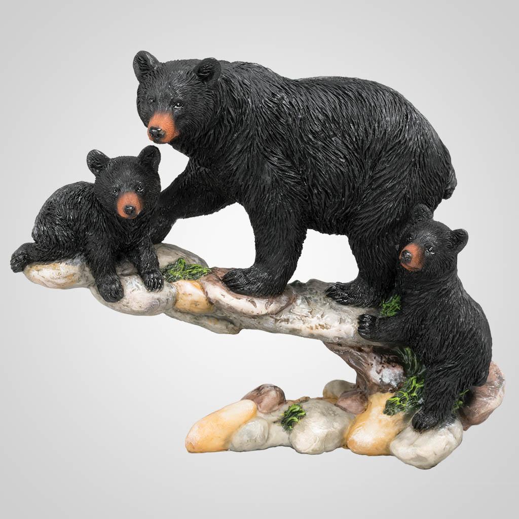 63358 - Bear Family on Rock Ledge