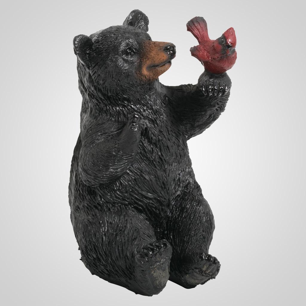 63359 - Black Bear w/Red Bird