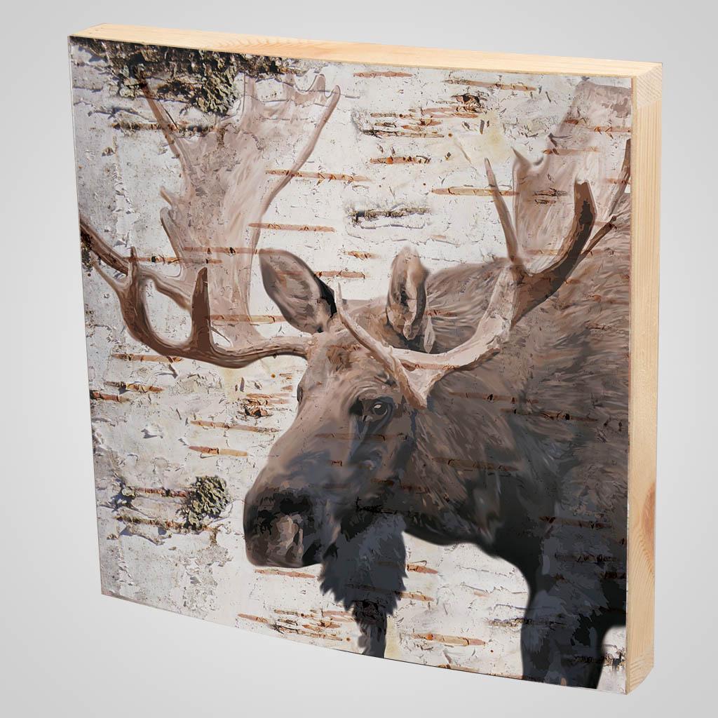 63371 - Moose Bark-Look Plaque