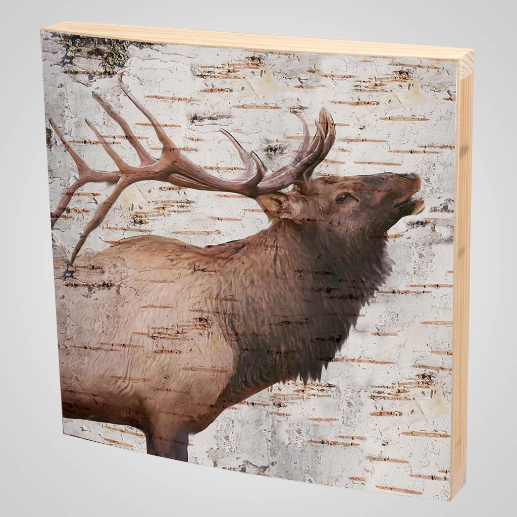 63372 - Elk Bark-Look Plaque