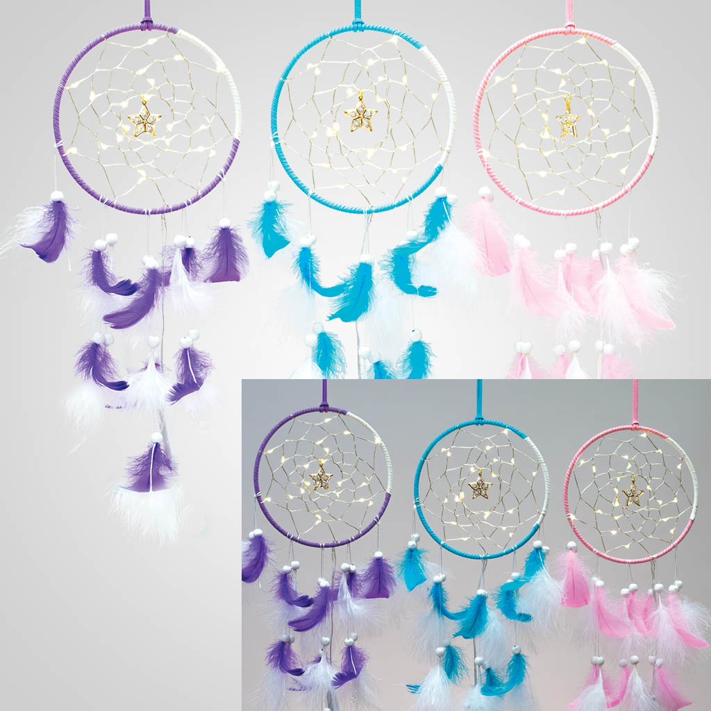 63374 - LED Lighted Dreamcatchers