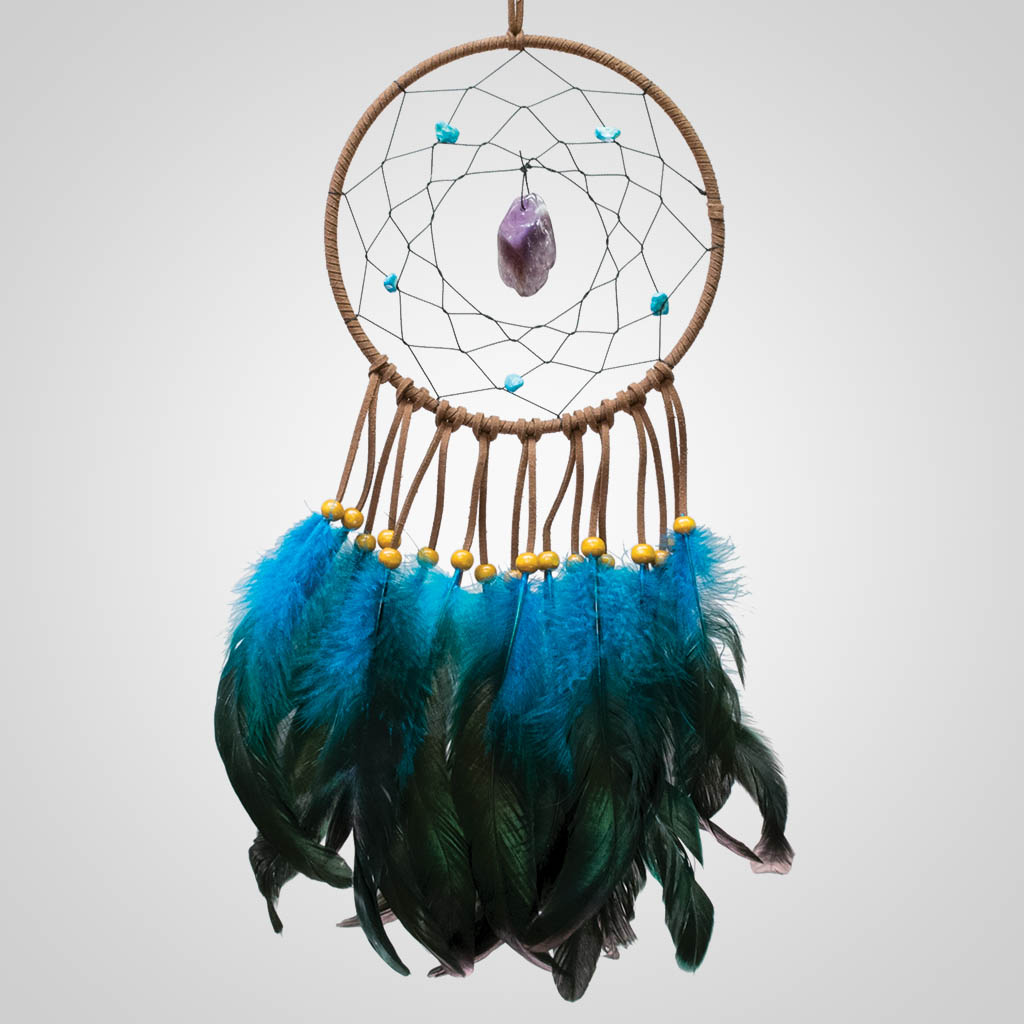 63375 - Dreamcatcher w/Suspended Stone