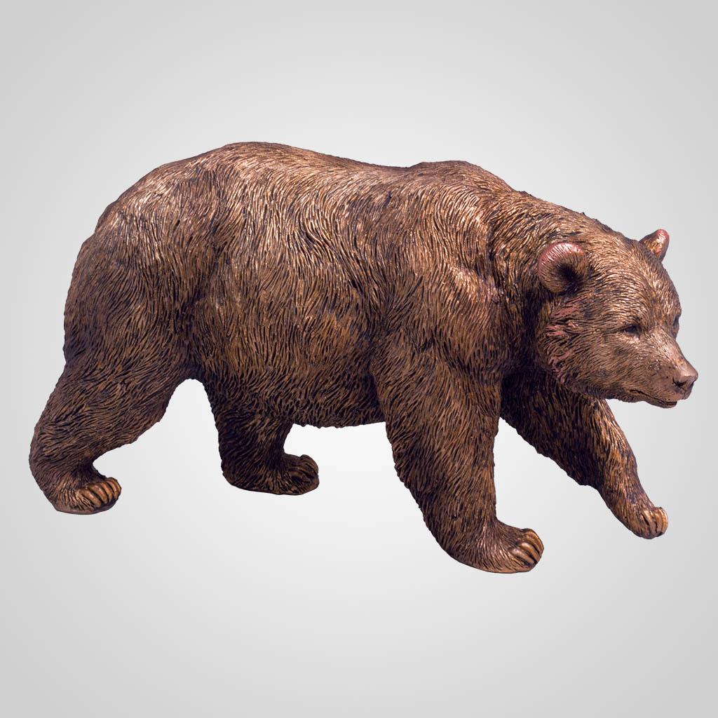 63386 - Bronze-Look Bear Figurine