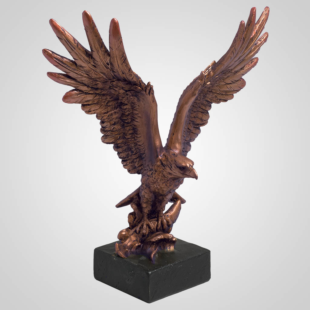63387 - Bronze-Look Eagle Bust