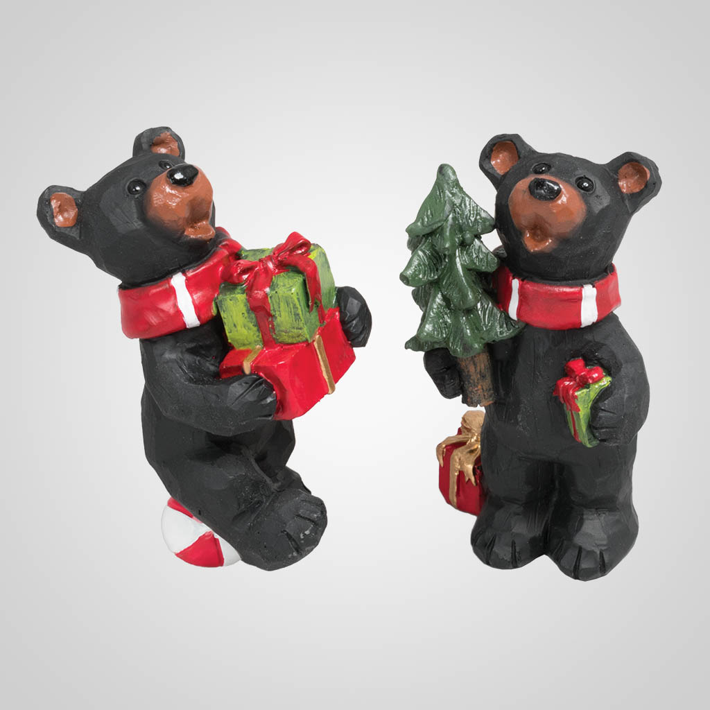 63397 - Christmas Gift Bear Figurine