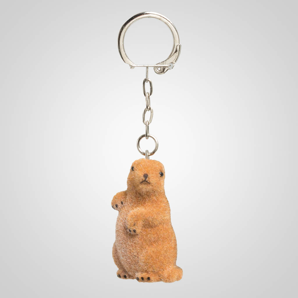 63407 - Flocked Prairie Dog Keychain