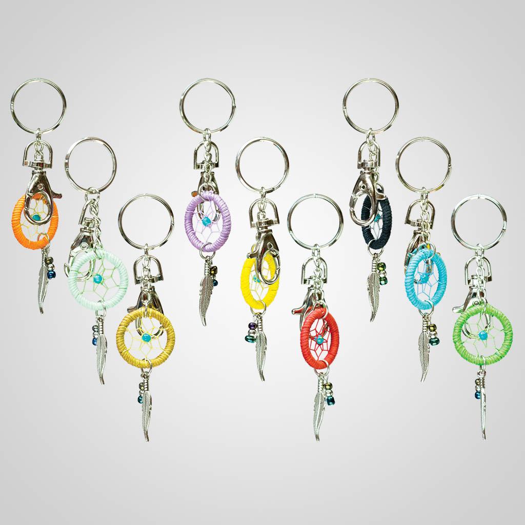 63433 - Dreamcatcher Keychains w/Clasps