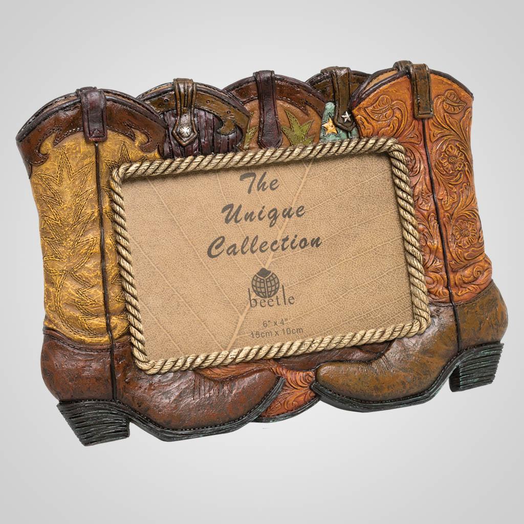 63439 - Cowboy Boots Photo Frame