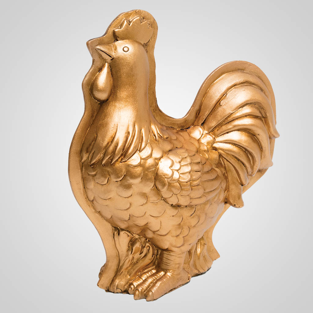 63443 - Rooster Copper-Mold Style Figurine