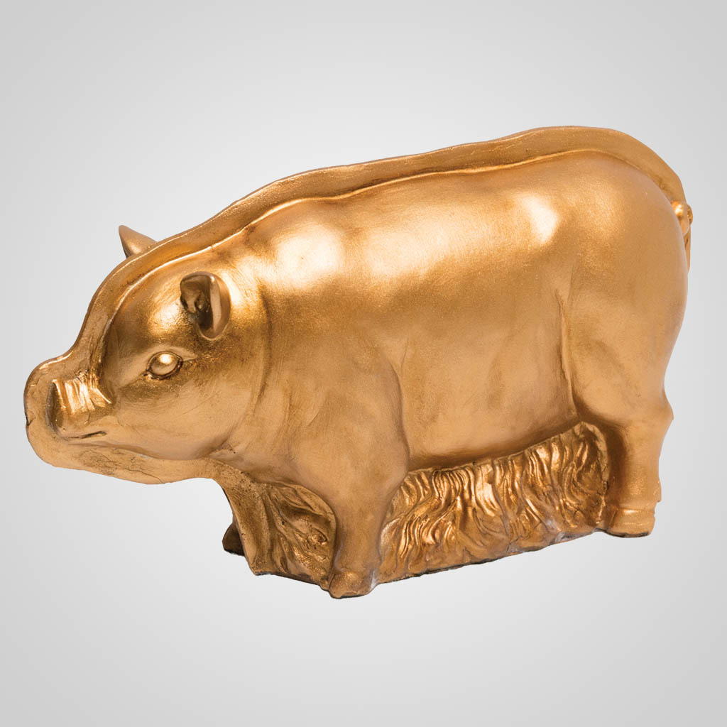 63444 - Pig Copper-Mold Style Figurine