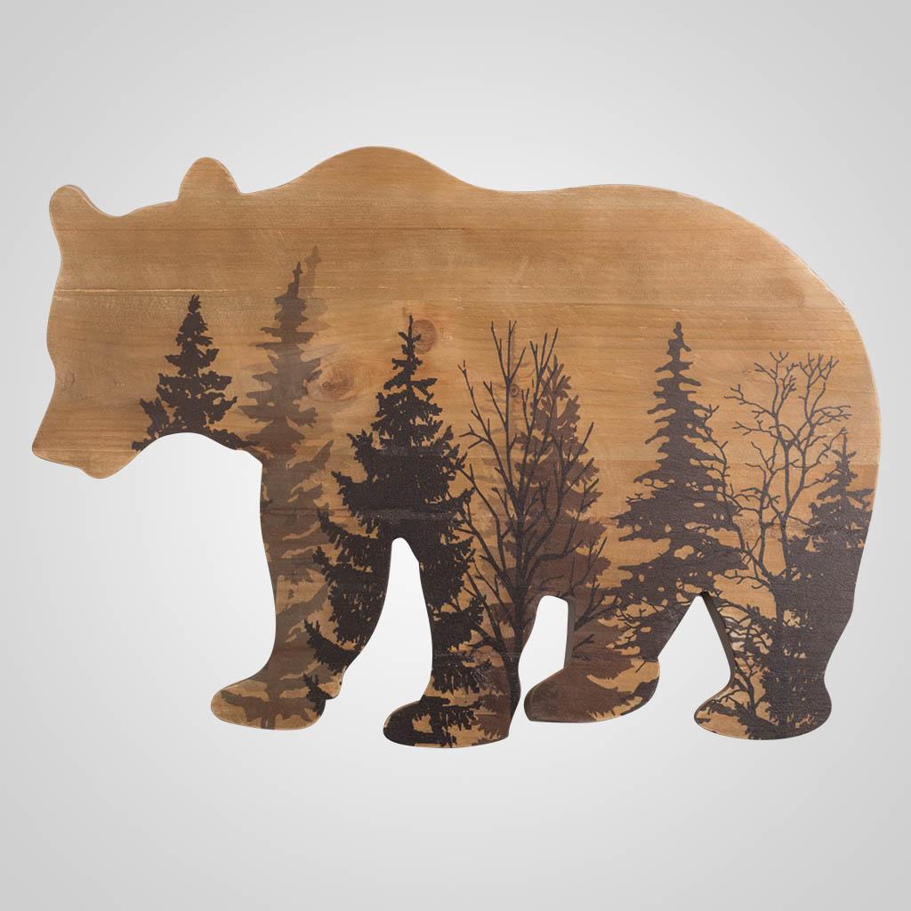 63447 - Bear-Shape Forest Plaque
