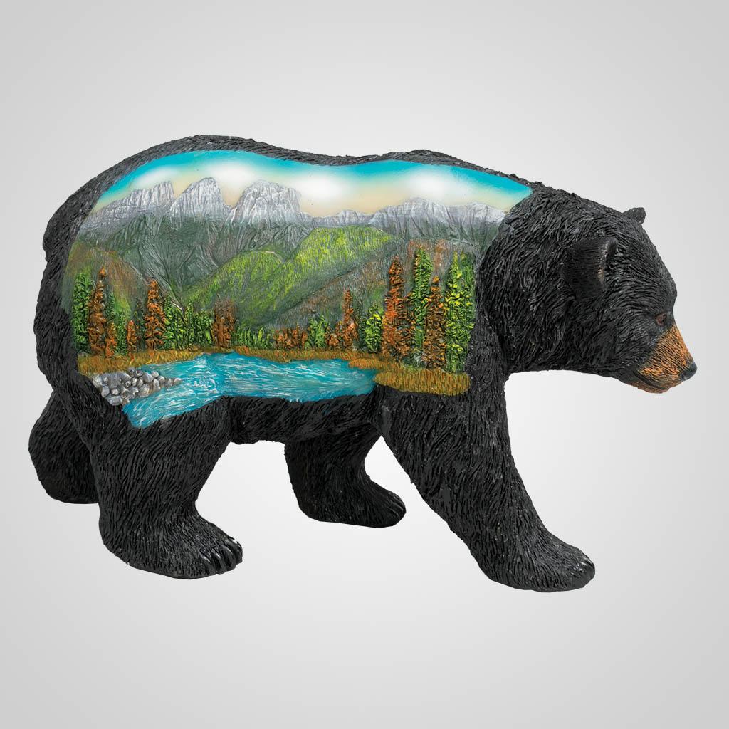 63458 - Bear Figurine w/Mural