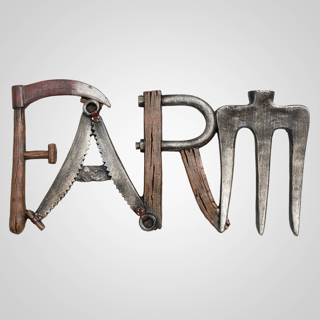 63460 - Farm Implements Plaque