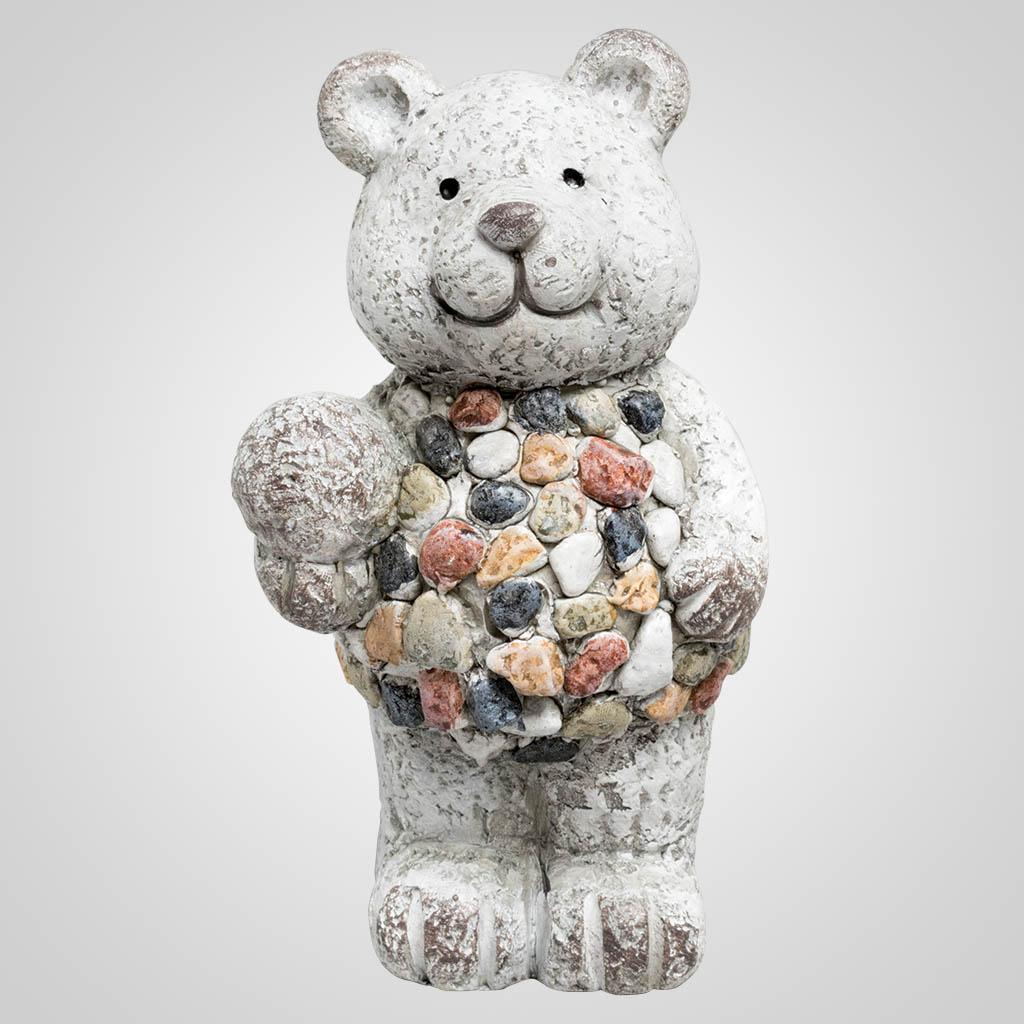 63463 - Pebble-Stone Bear Figurine