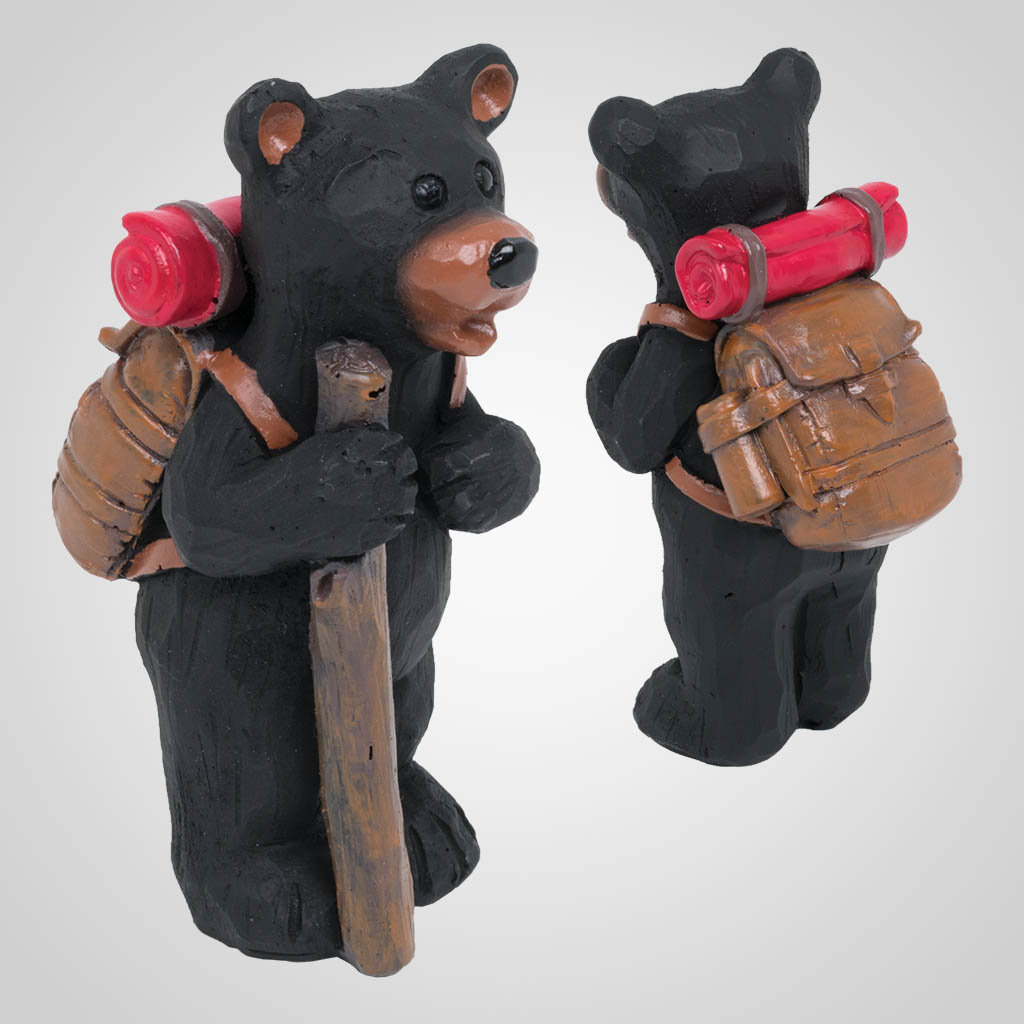 63474 - Hiking Bear Figurine