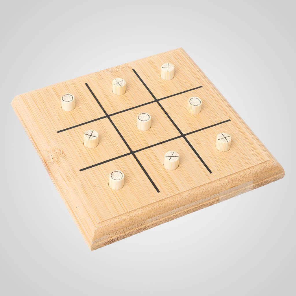 63485PL - Bamboo Tic-Tac-Toe Game, Plain