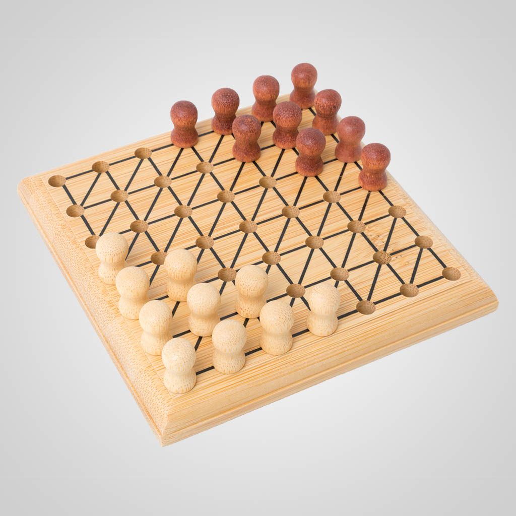 63486PL - Bamboo Chinese Checkers Game, Plain