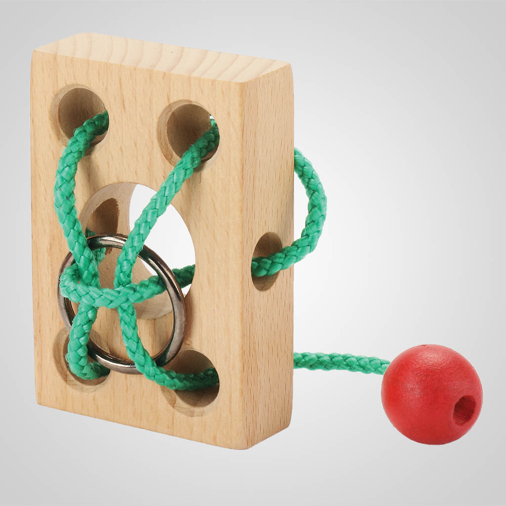 63494PL - Wood Block and String Puzzle Game