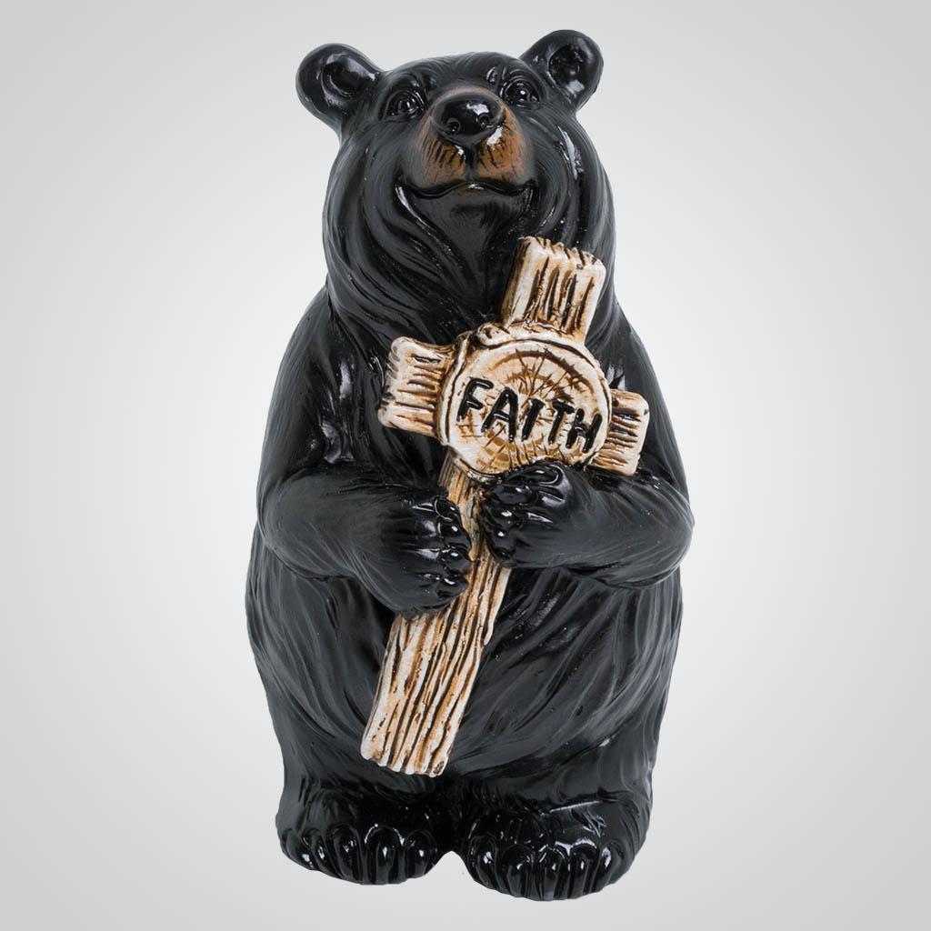 63505 - Bear with Faith Cross