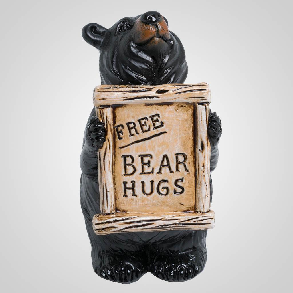 63506 - Bear with 'Bear Hugs' Plaque