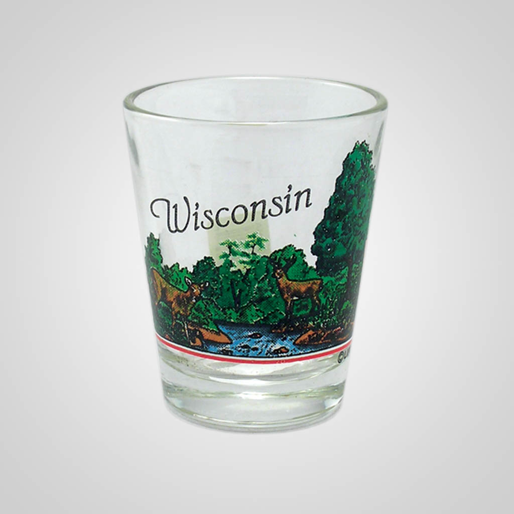 13288PP - Forest Scene Shot Glass, Name-Drop
