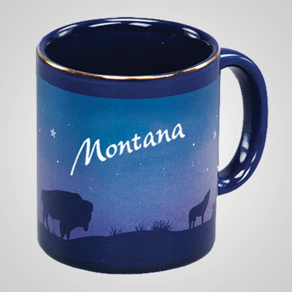14069PP - Cobalt Prairie Scene Mug, Name-Drop
