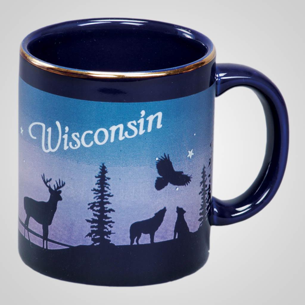 14073PP - Cobalt Deer/Forest Mug
