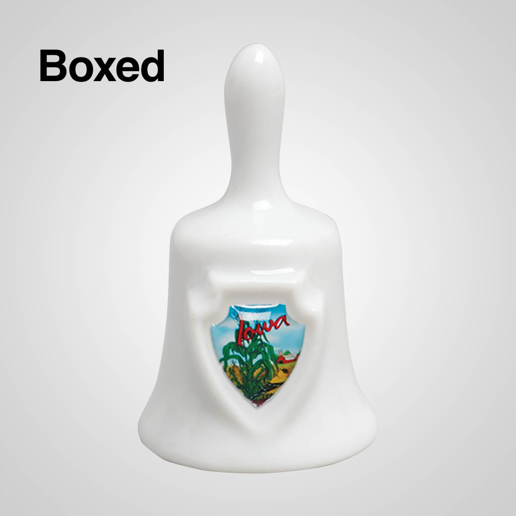 14245 - Mini Bell With Shield, Boxed