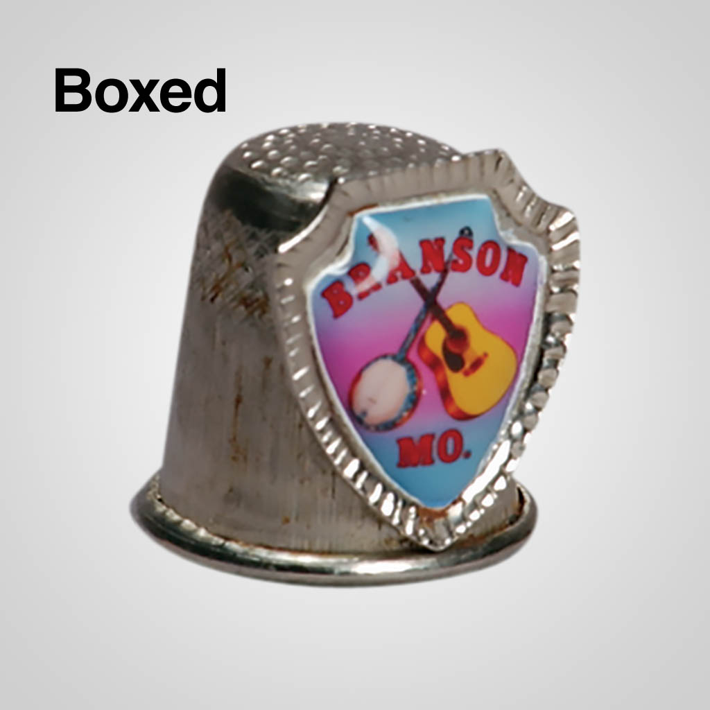 14246 - Metal Thimble With Shield, Boxed
