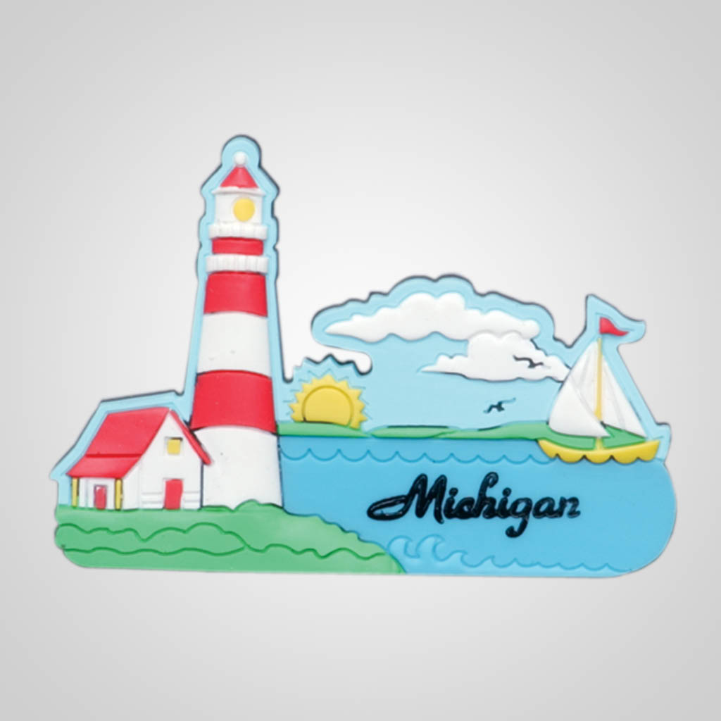 14404 - Lighthouse PVC Magnet, Name-Drop