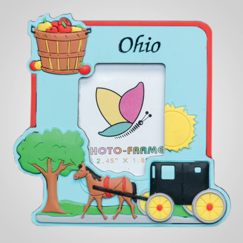 14413 - Magnetic Amish Photo Frame, Name-Drop