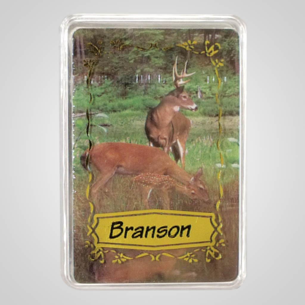 14928 - Deer Scene Playing Cards, Name-Drop