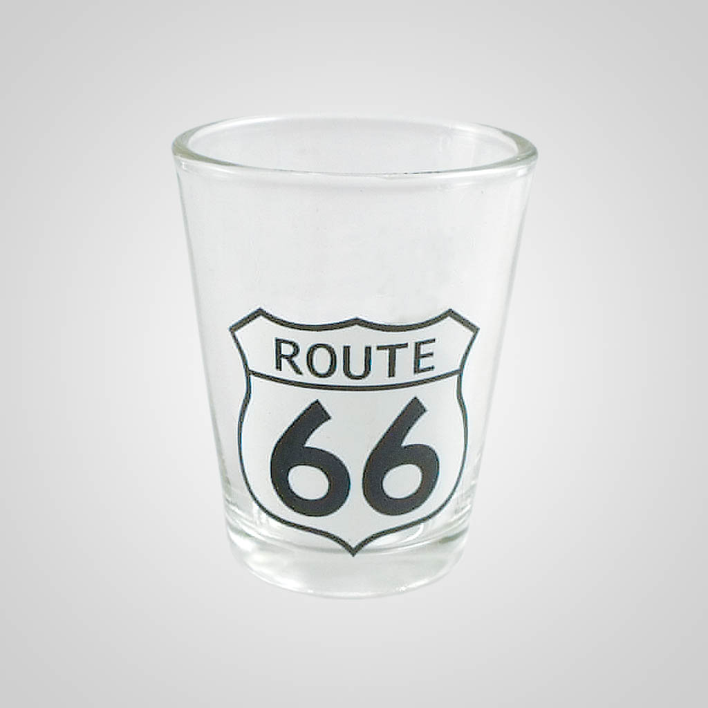 14968PL - Route 66 Shot Glass, Plain