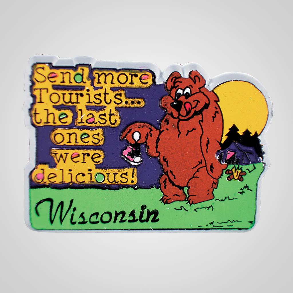 16414 - Bear Tourists Magnet, Name-Drop