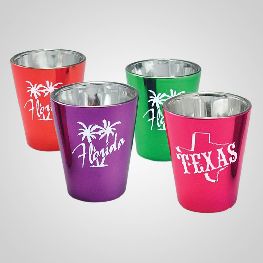 16424PP - Metallic Glass Shot Glass - 1 Color Print