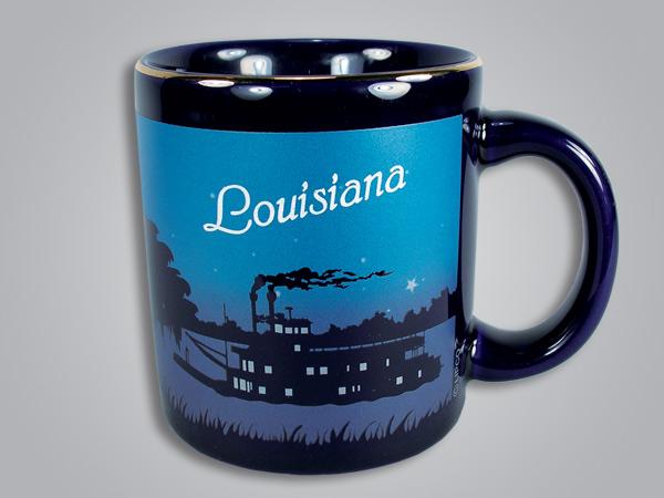 16524PP - Cobalt Riverboat Scene mug