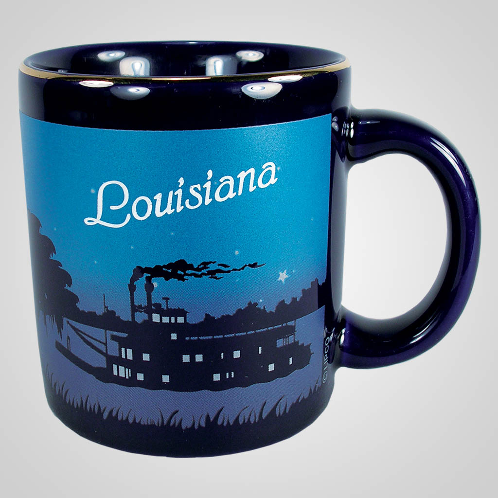 16524PP - Cobalt Riverboat Scene Mug, Name-Drop