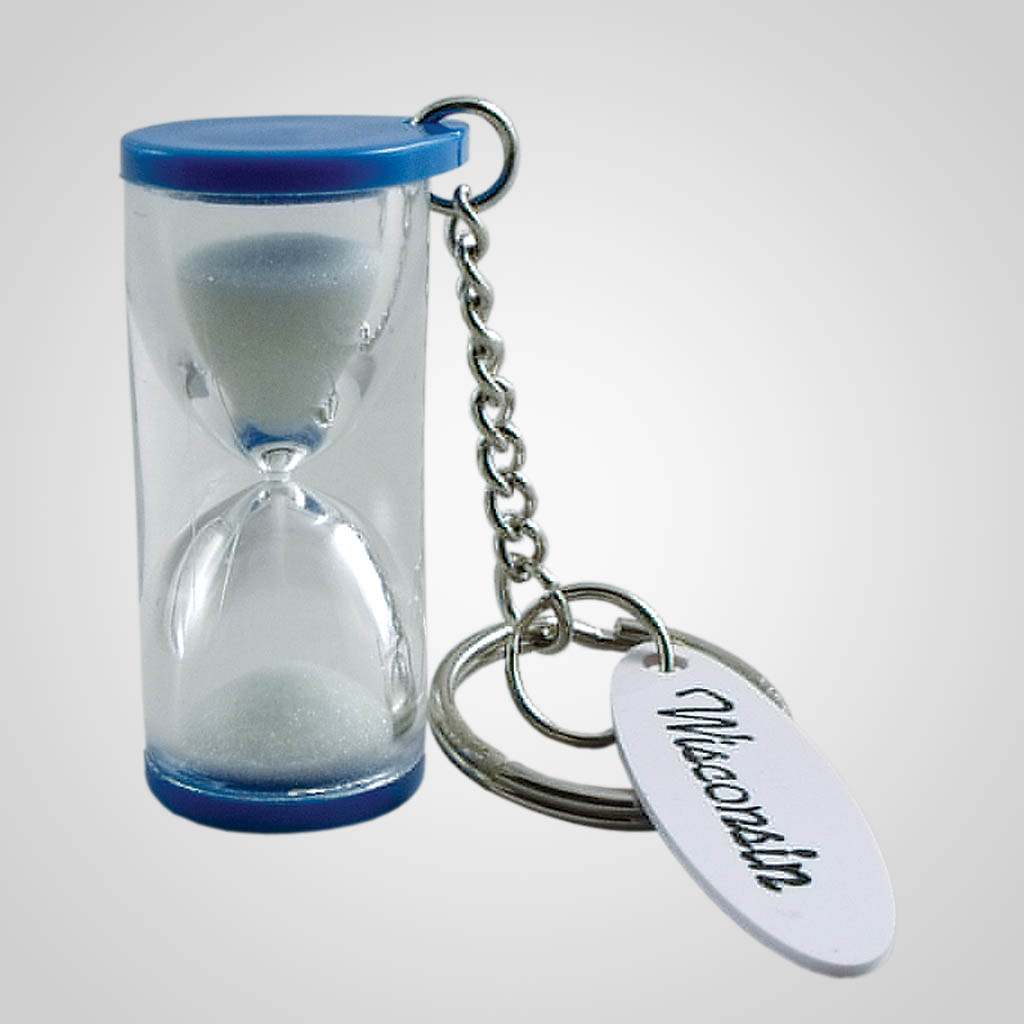 16555 - Hourglass Keychain, Name-Drop