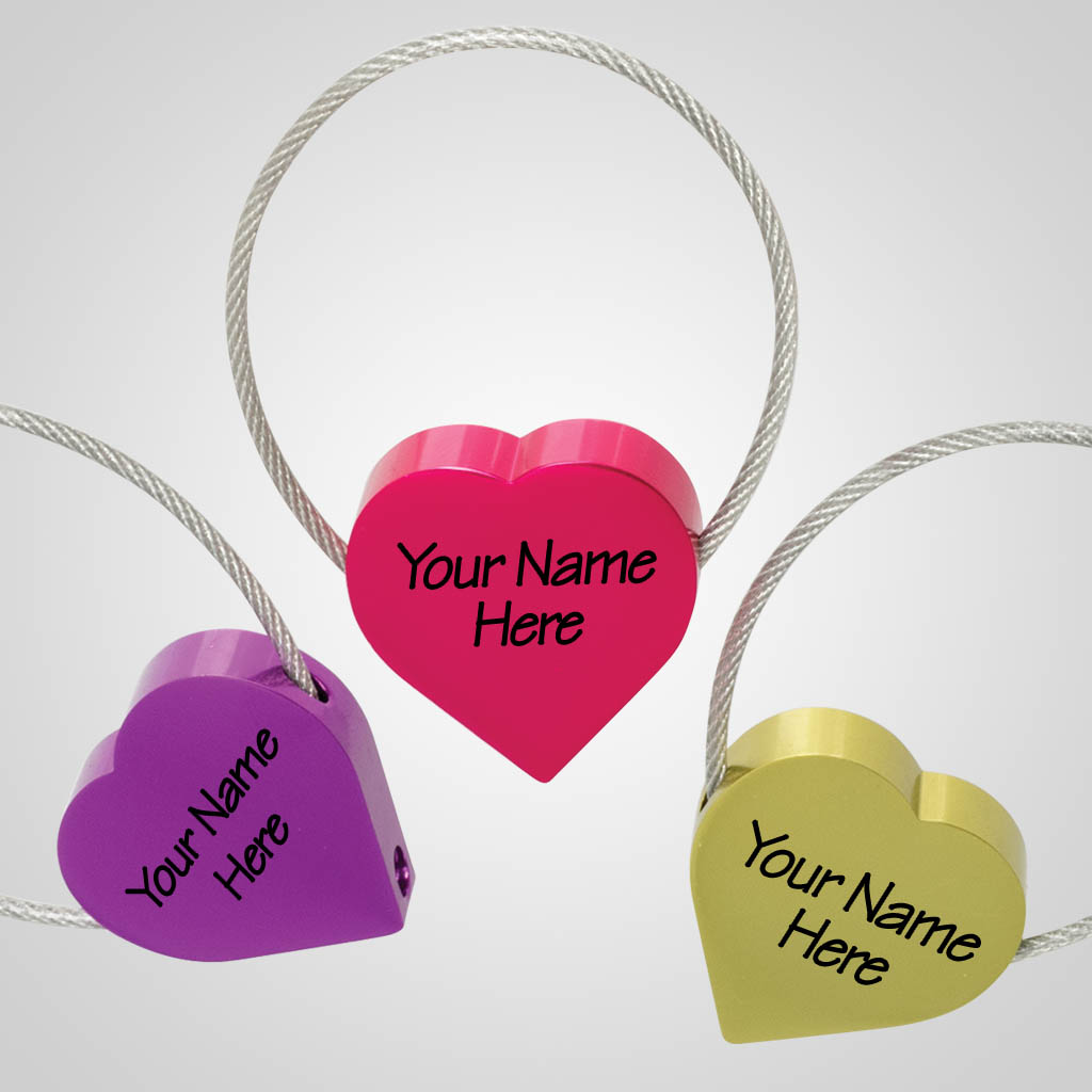 16562JP - Heart Cable Keychain, 1 Color Print