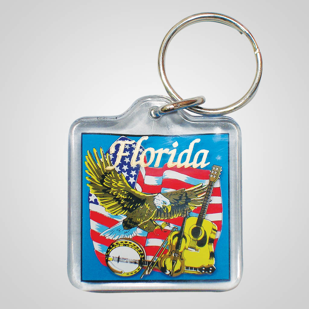16574 - Lucite USA Music Keychain, Name-Drop