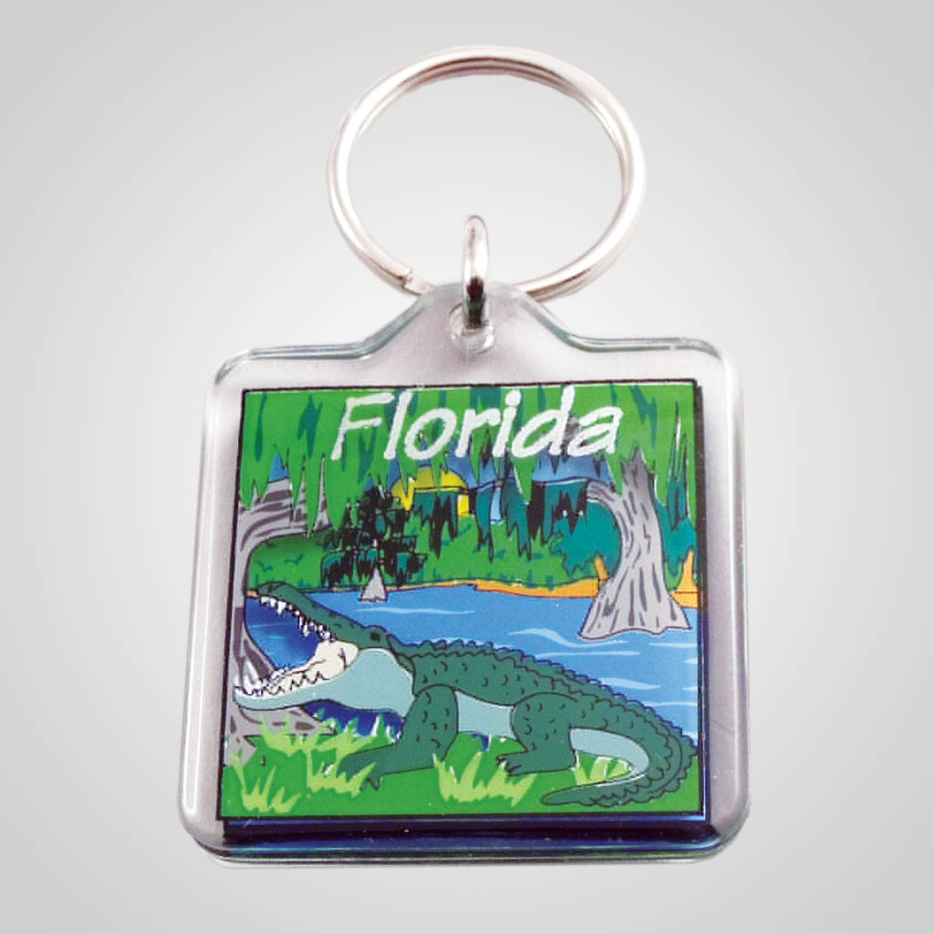 16575 - Lucite Alligator Keychain, Name-Drop