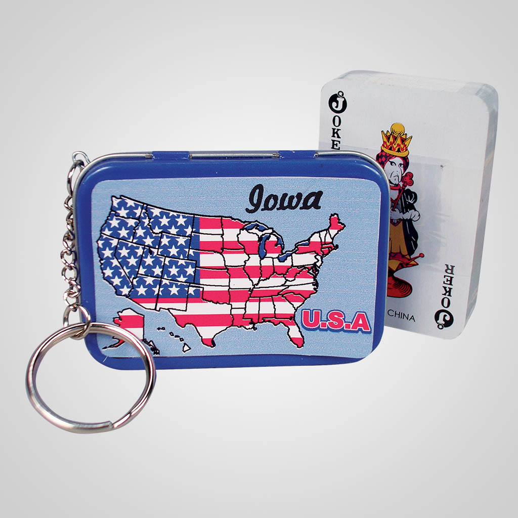 16577 - Playing Cards Keychain, Name-Drop