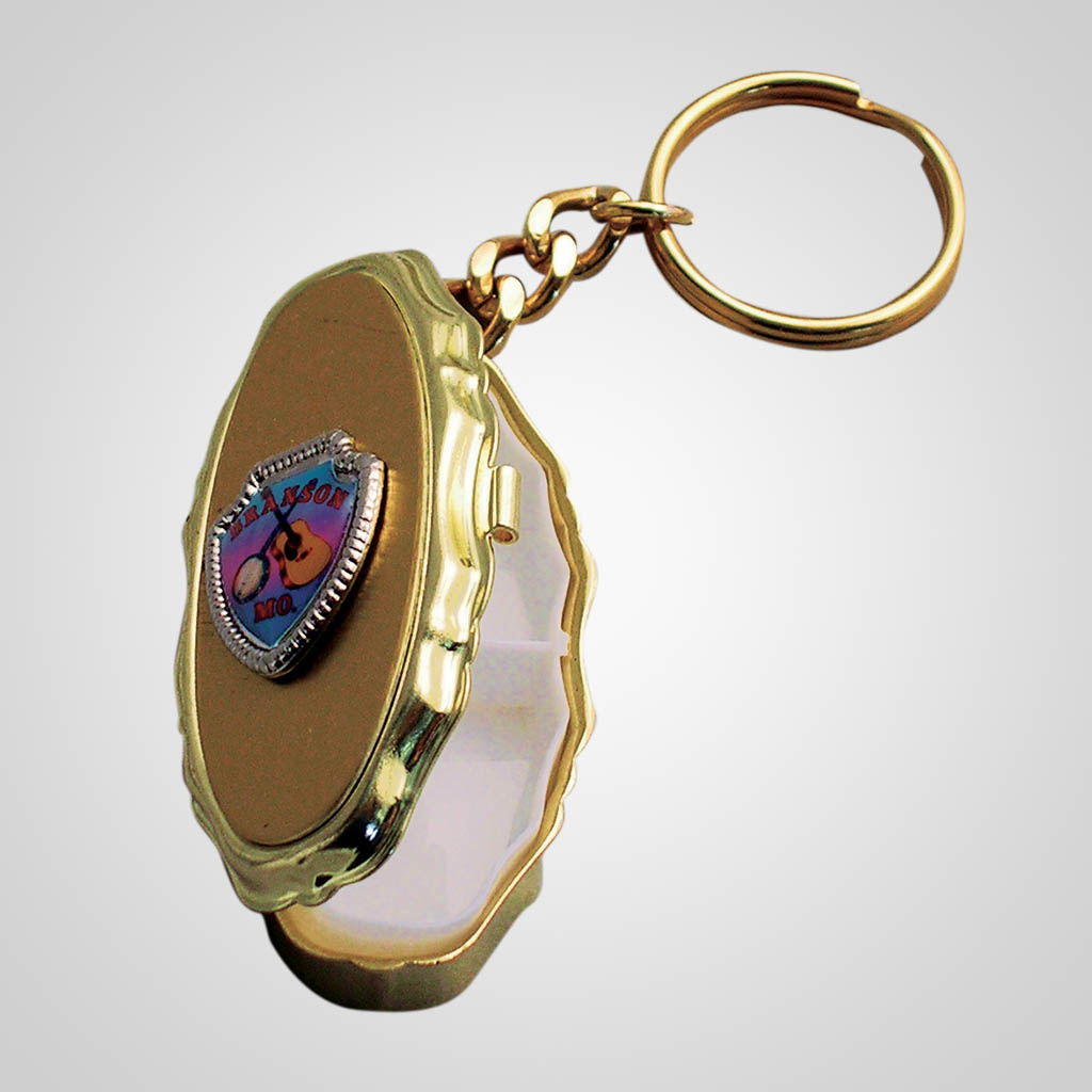 16578 - Pill Box With Shield Keychain