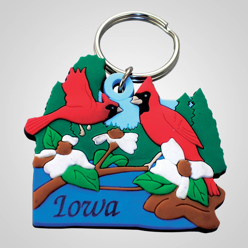 16586 - Cardinals Keychain, Name-Drop