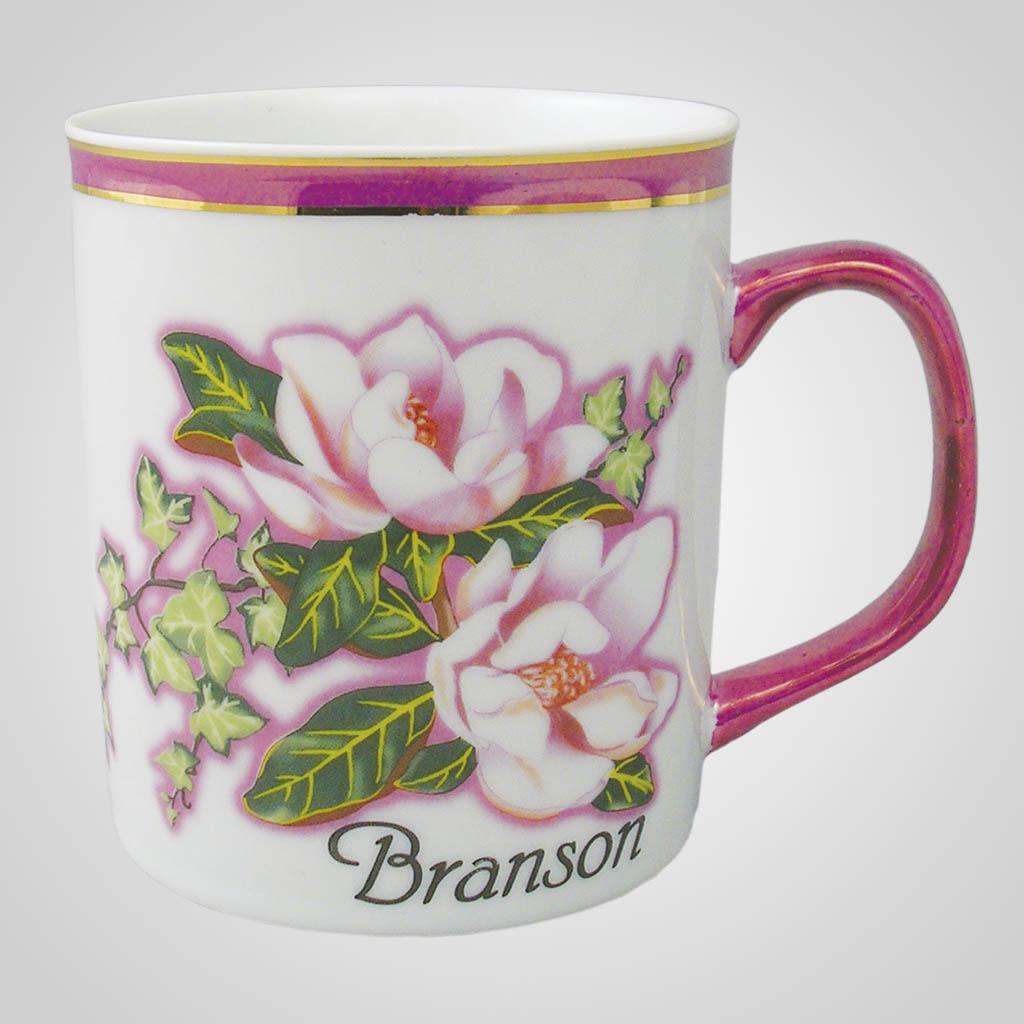 16621PP - Pearl Trim Magnolia Mug - Imprinted